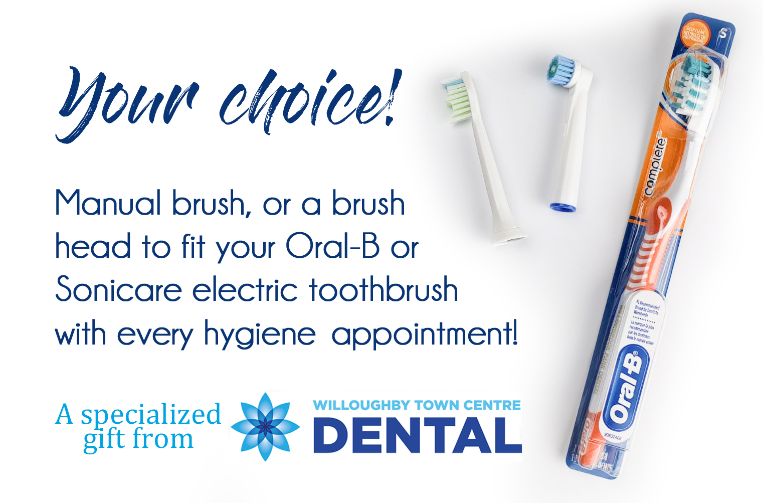Willoughby Town Centre Dental Toothbrush options